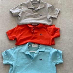 Set of 3 Lacoste polos. Size 10
